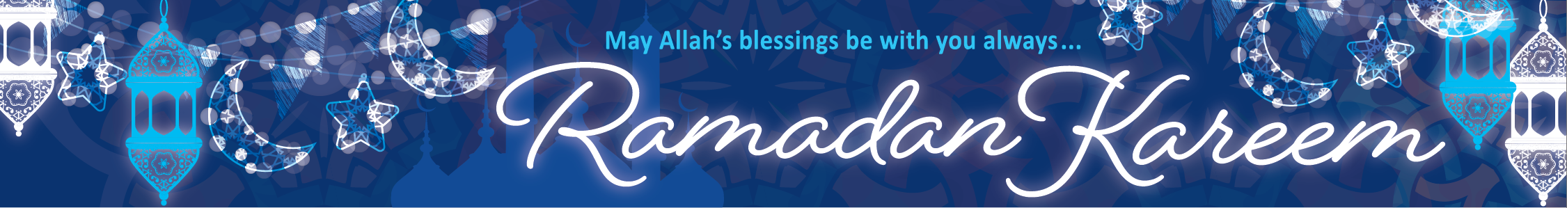 We wish you a blessed and happy Ramadan. Our working hours are shortened till 3pm during this holy month.